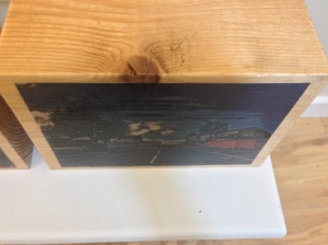 Overview of 'Uniform' 2014 Acrylic Gel Print Photograph on Wood by Helen McNulty
